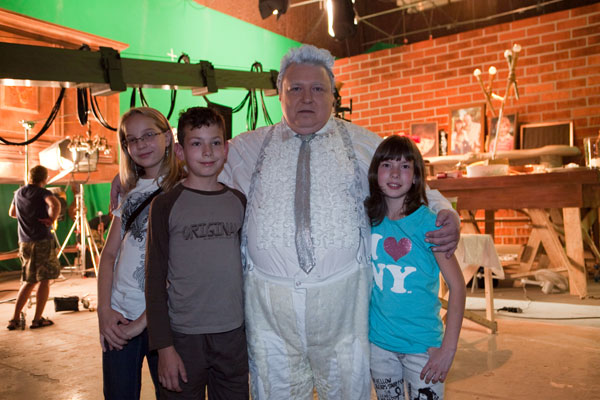 Away on the set of the film
