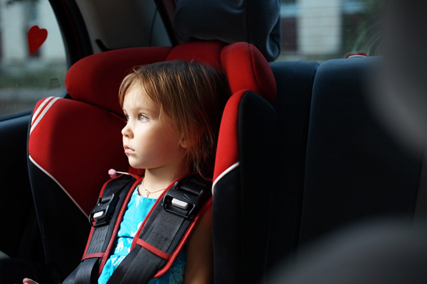 If the baby is sick in the car