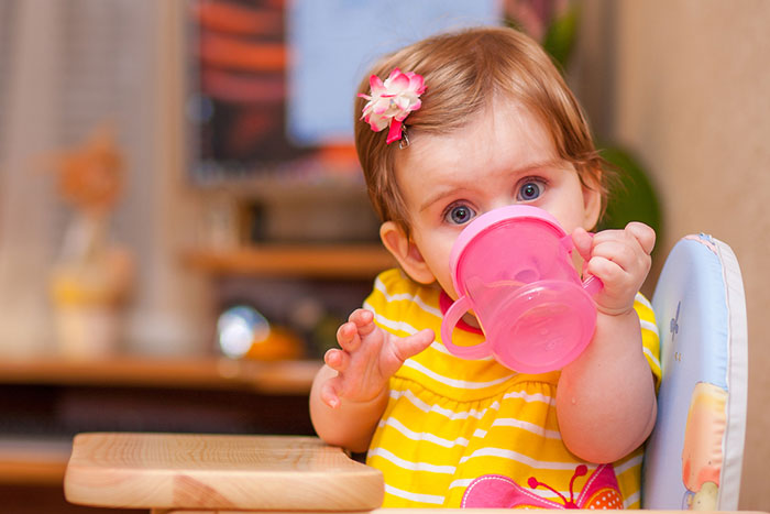 Give the baby a cup!