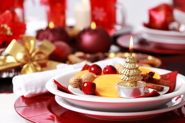 At the festive table