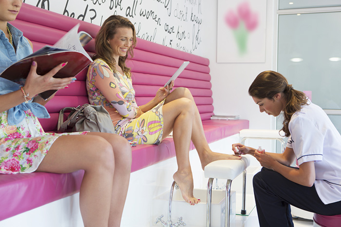 In tune with the times: spring pedicure