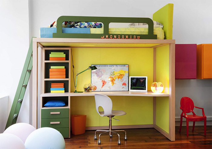 Children's as a designer: a transforming bed and modular furniture