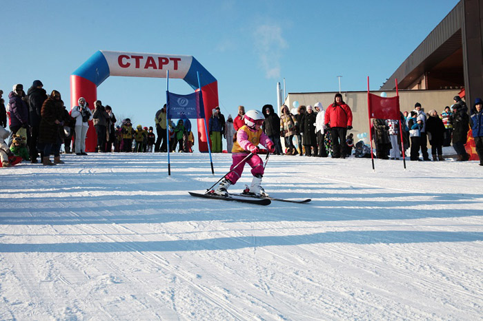 March 8 in the children's ski club Crystal Istra