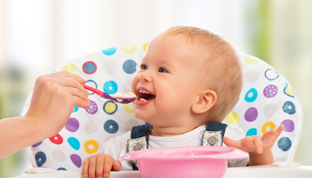 Babies fed with a spoon are more likely to be overweight.