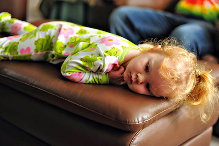 ¡Los niños también se cansan!