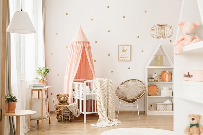 Habitación infantil: belleza y seguridad.