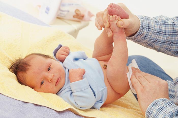 Раздражение кожи на попе у ребенка