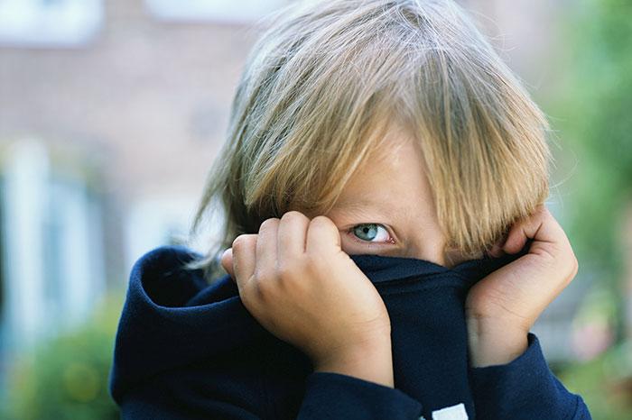 How do children have a sense of shame?
