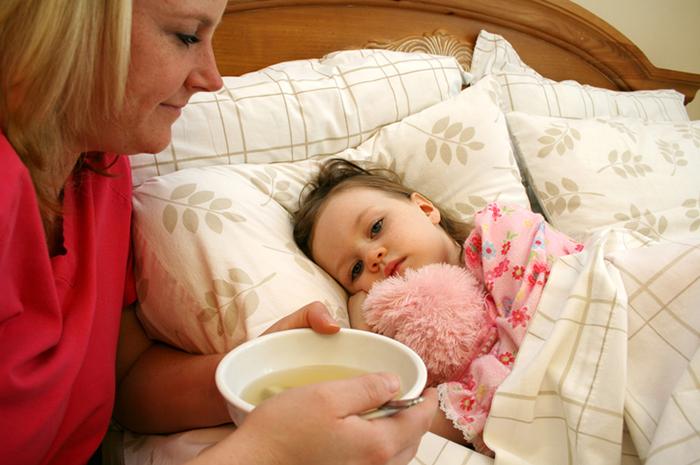 Мама с ребенком у кровати