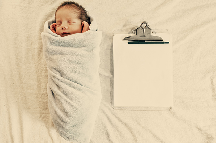 By law: we prepare documents for the newborn