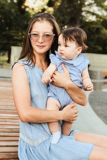 Яна и малышка Нана