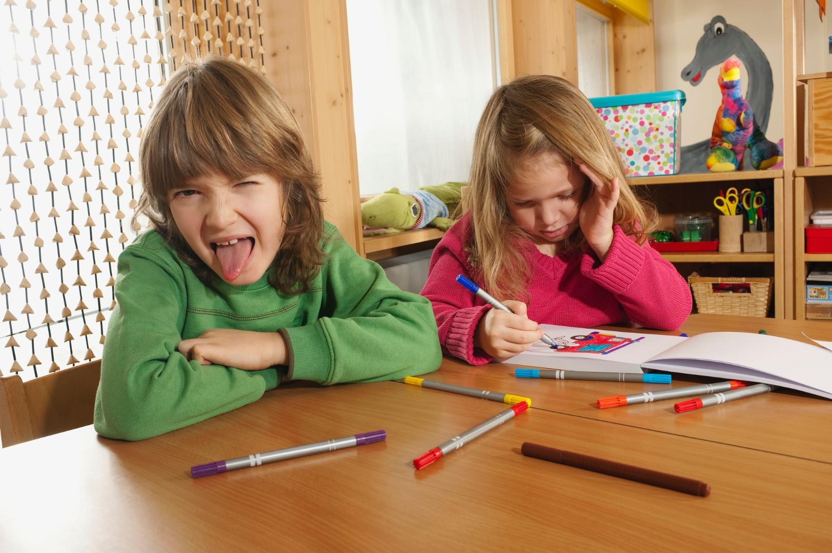 The child does not perform tasks in kindergarten