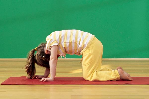 Today I am a cat (child yoga)