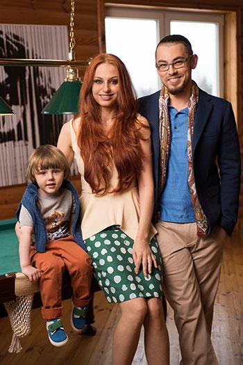 The main rule of mother: Irina, Vyacheslav, Matvey