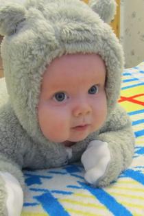 Наш маленький медвежонок Сашенька!