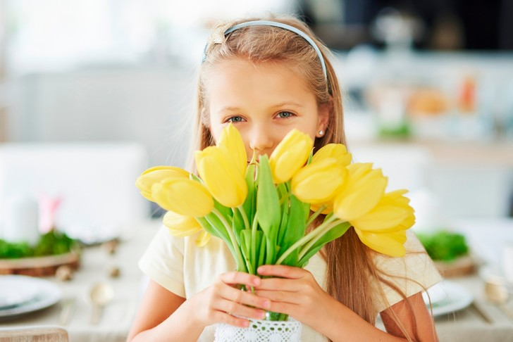 Фото №1 - Дети и цветы